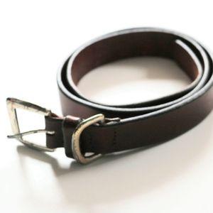Eddie Bauer Dark Brown 100% Leather Waist Belt